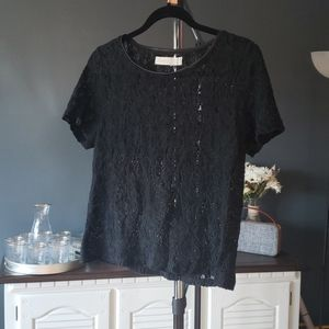 Costa Blanca lace shirt sleeved top